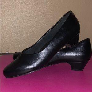 Short, black work heels